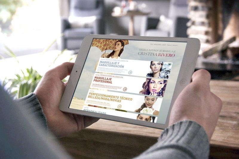 Diseño web Escuela Superior de Maquillaje Cristina Rivero
