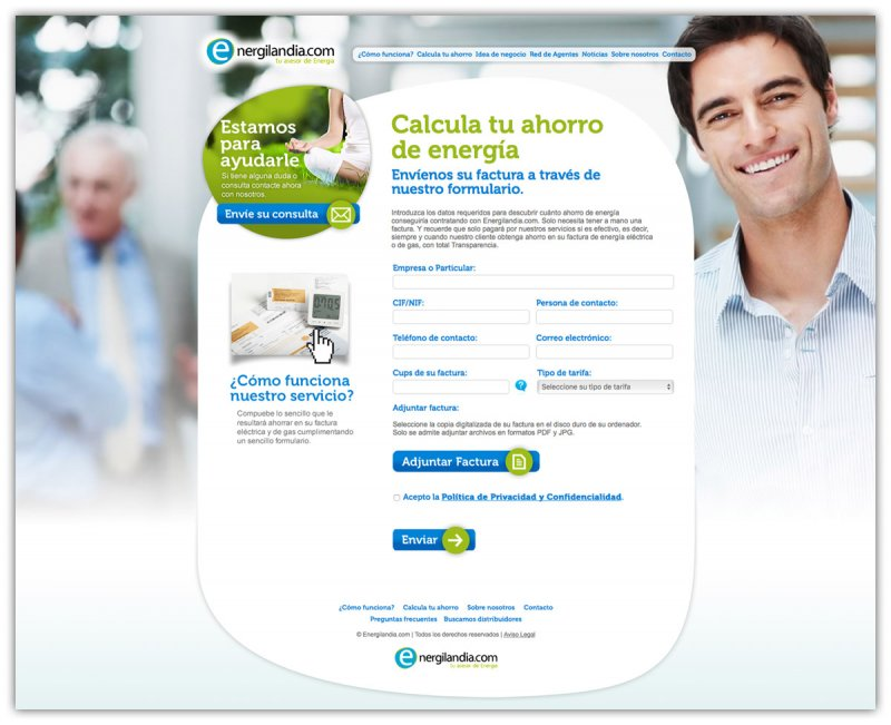 Diseño web Energilandia