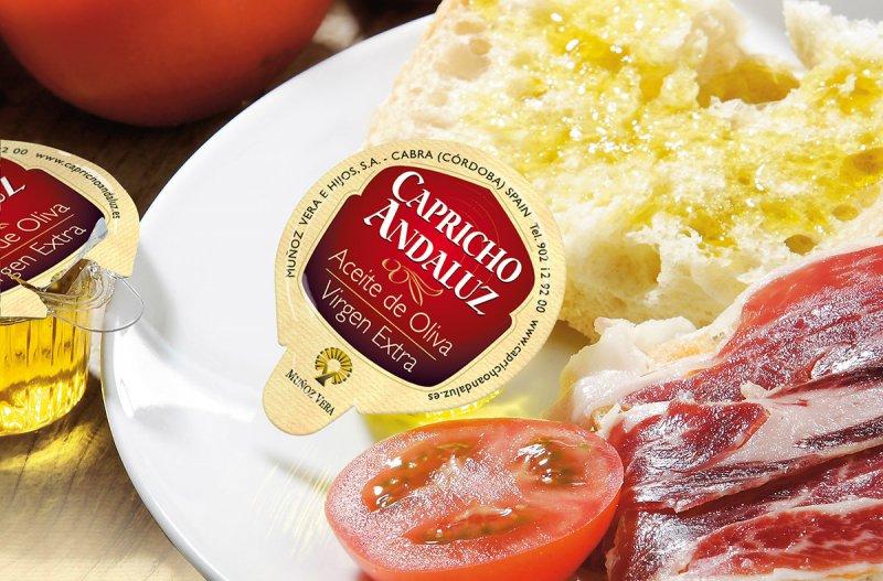 Diseño de packaging monodosis Capricho Andaluz