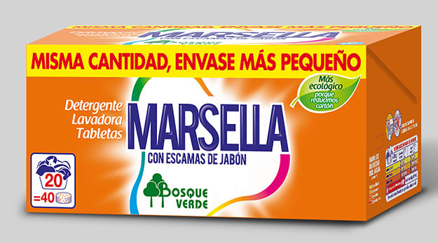 Diseño de packaging para detergentes Bosque Verde