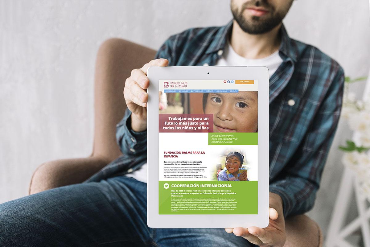 Diseño web Fundación Balms para la Infancia, Oficina de Arte