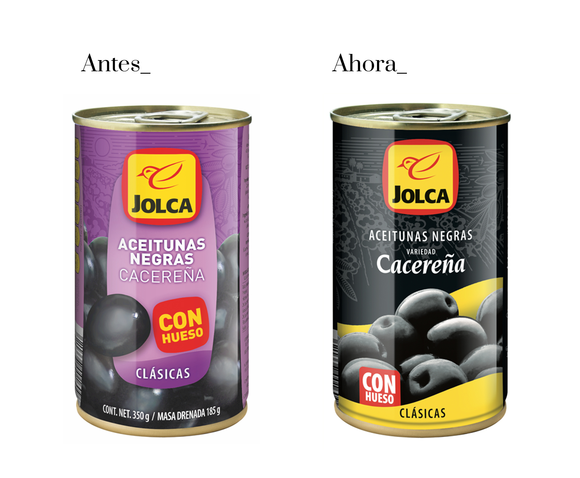 Restyling del packaging de Jolca