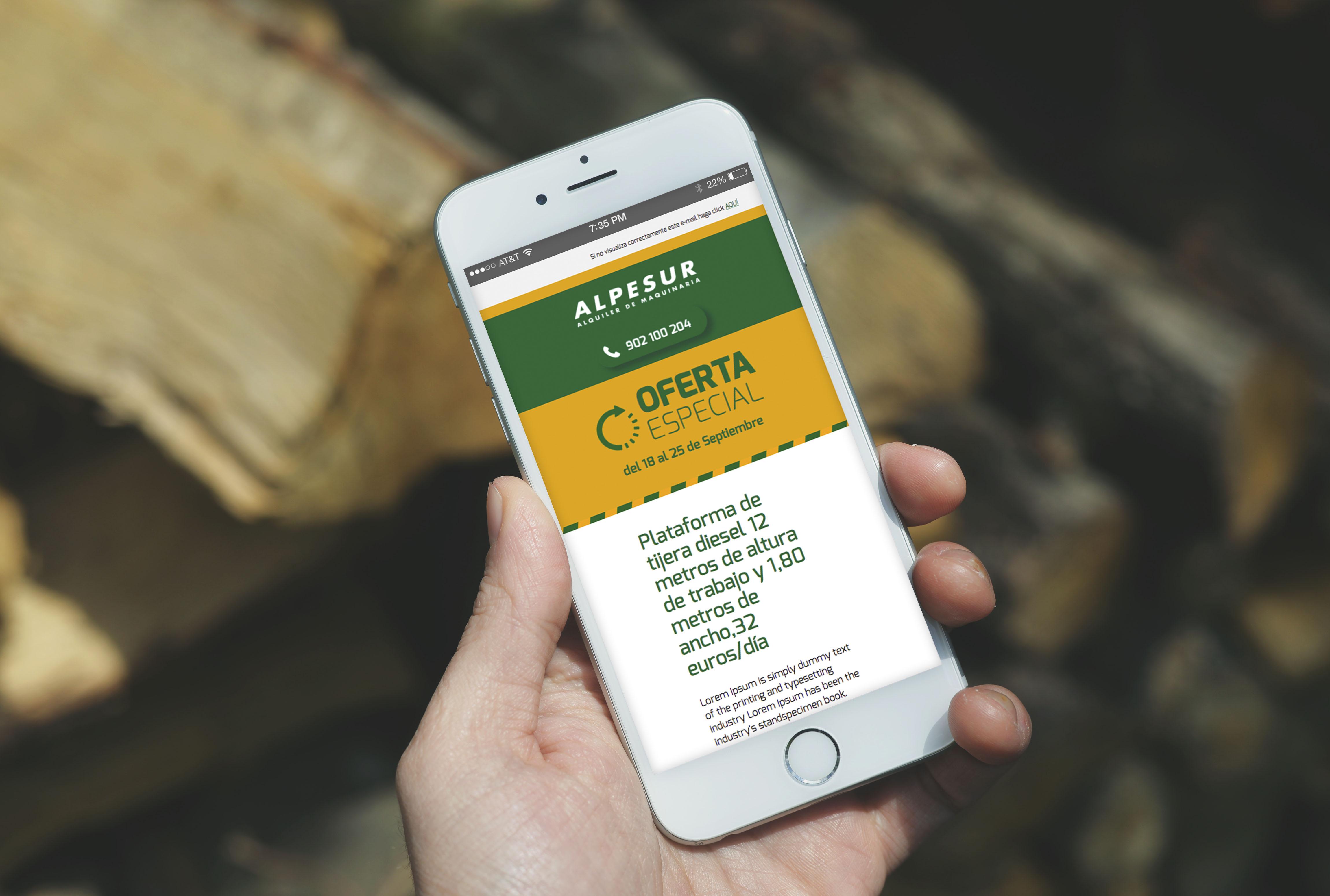 Diseño de email Alpesur