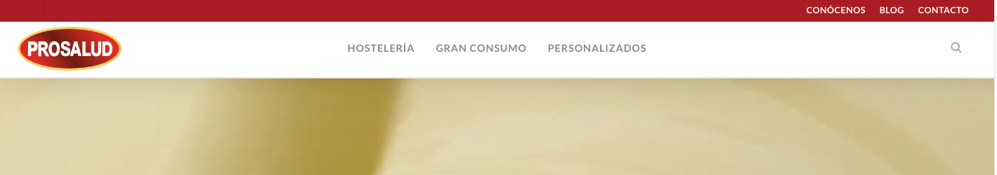 web corporativa productos salud
